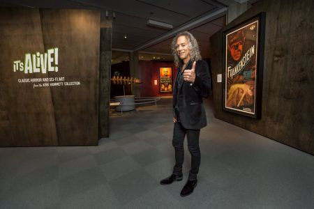 The rare monster movie poster collection belonging to Metallica's Kirk Hammett is now on exhibit at the Peabody Essex Museum in Salem, MA un