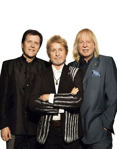 Left to right: Trevor Rabin, Jon Anderson, and Rick Wakeman.