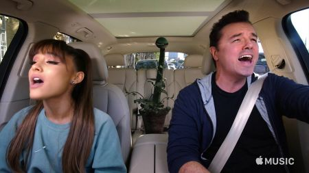 Watch Ariana Grande and Seth MacFarlane sing Broadway songs in new 'Carpool Karaoke'