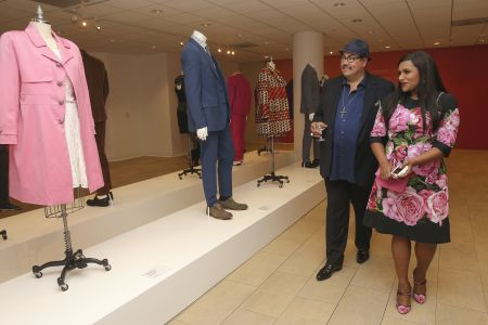 Beverly Hills, CA - Aug. 24: Mindy Kaling and Costume Designer Salvador Perez celebrate the upcoming sixth and final season of 'The Mindy Pr
