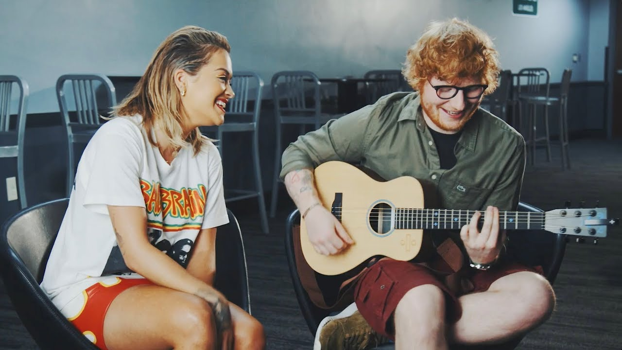 Watch: Rita Ora and Ed Sheeran perform stripped-down acoustic rendition of 'Your Song'