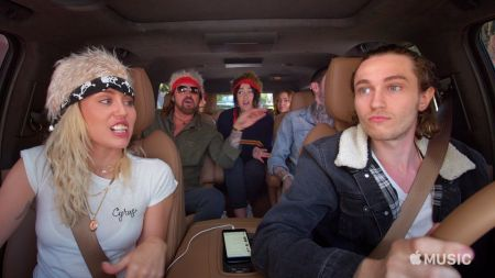 Watch the Cyrus Fam sing 'Achy Breaky Heart' on 'Carpool Karaoke'