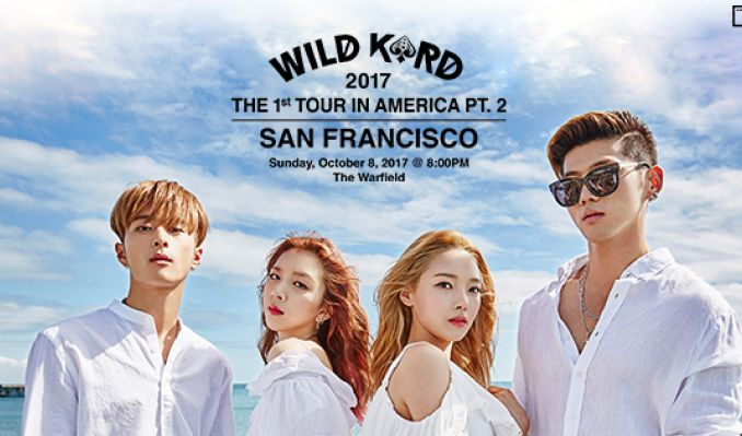 """WILD KARD"" 2017 THE 1ST TOUR IN AMERICA PT. 2 tickets at The Warfield in San Francisco"