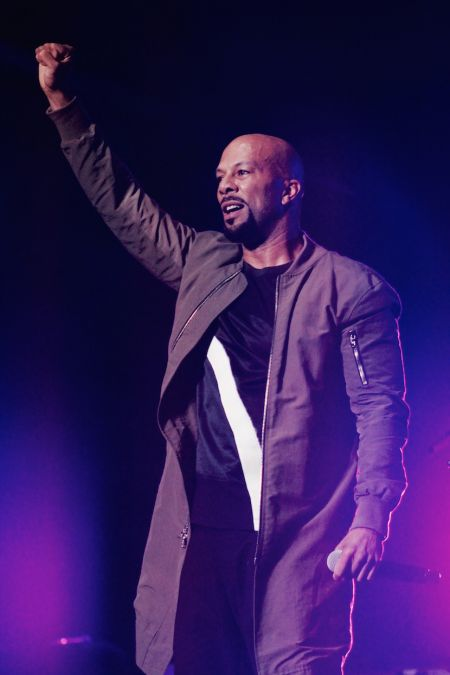 Common is seen performing at The Roots Picnic in New York City in 2016.