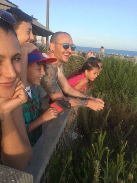 Chester Bennington's widow shares family photo taken just days before the singer died