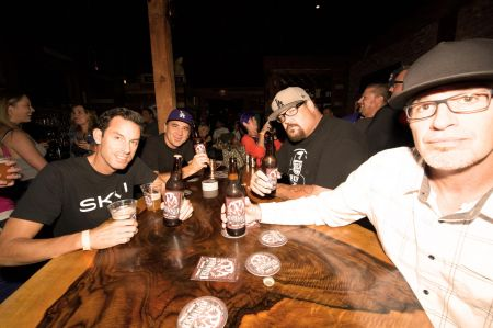 """Hermosa Beach, CA - Aug. 25: Pennywise celebrates their new brew """"Pennywiser"""" with family, friends and fans. The IPA is now available in Sou"""