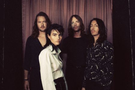 Aussie band The Preatures - (L to R) Tom Champion (bass) Izzi Manfredi (vocals), Luke Davidson (drums) and Jack Moffitt (guitar), are back w