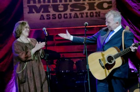 John Prine and Iris Dement perform at the 2017 Americana Music Awards