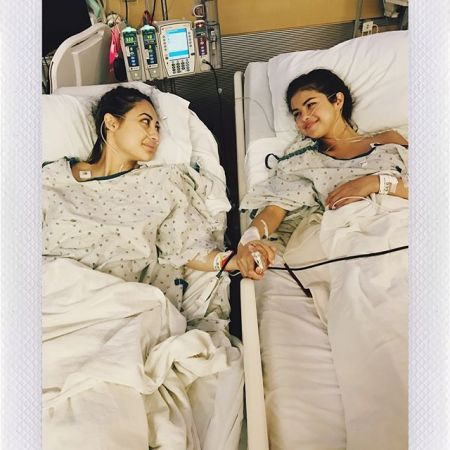 Selena Gomez with Francia Raisa, who donated a kidney to Gomez.