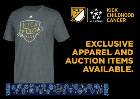 The MLS is raising money for kids with cancer throughout September