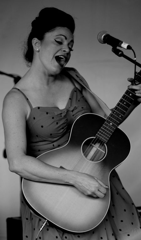 Angaleena Presley perform at the AMA UK's Bootleg BBQ at Americanafest