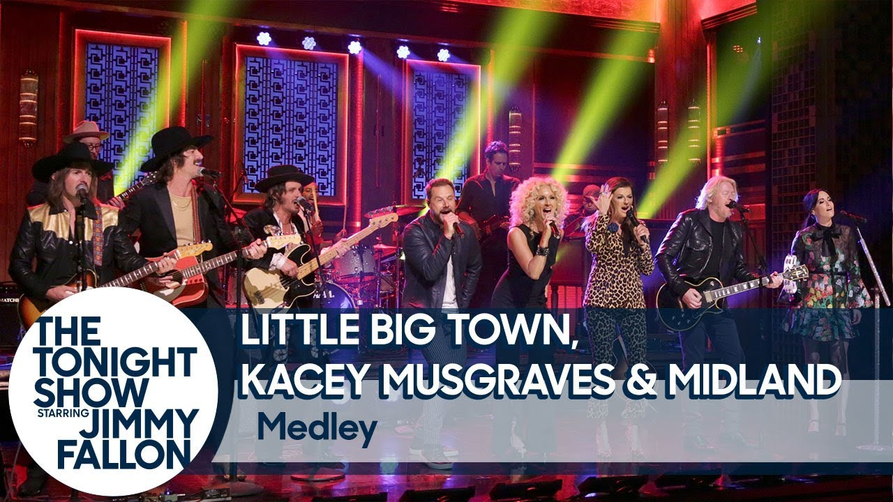 Watch Little Big Town, Kacey Musgraves & Midland preview The Breakers Tour on Tonight Show