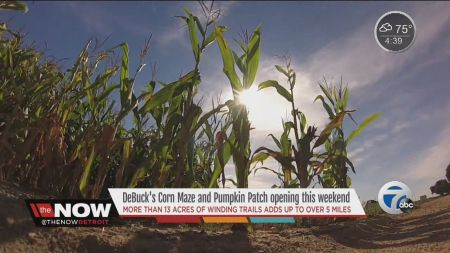 Corn mazes and pumpkin patches near Detroit 2017