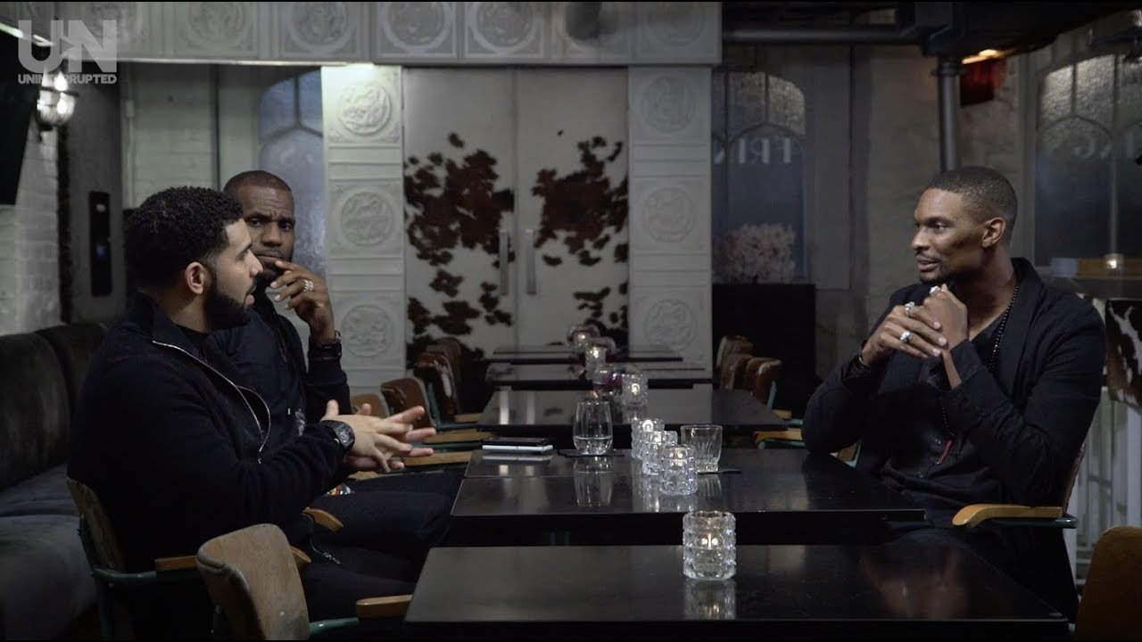 Watch Drake sit down with LeBron James and Chris Bosh for an interview