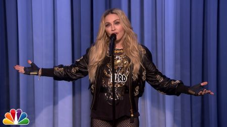 Madonna joins comedians in New York City to make her stand-up debut