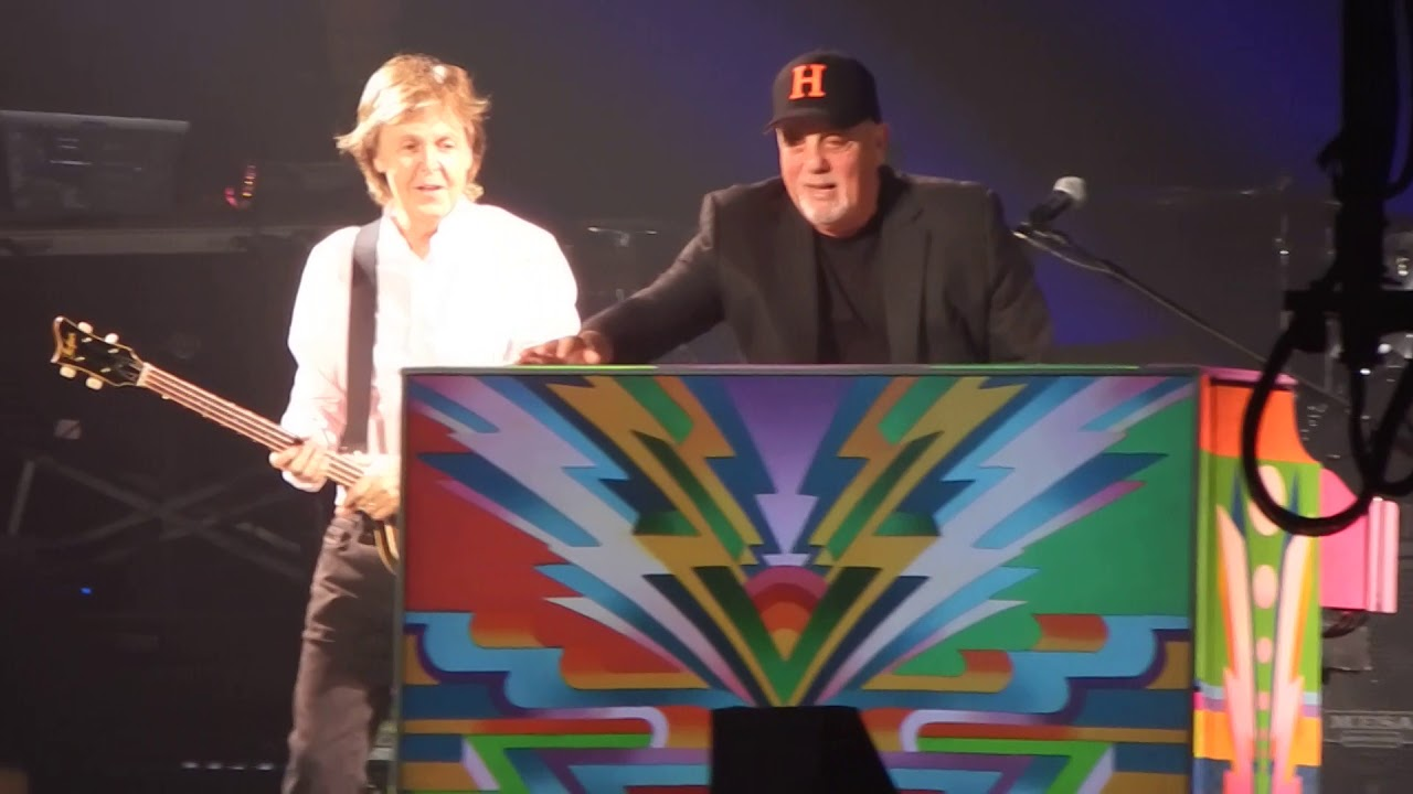 Watch: Paul McCartney teams with Billy Joel for Beatles medley in New York