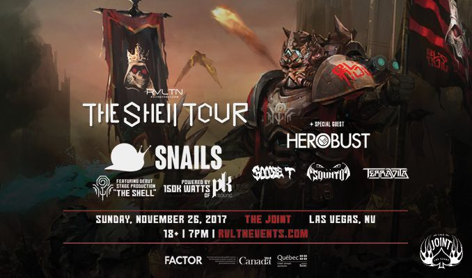 RVLTN Presents Snails tickets at The Joint at Hard Rock Hotel & Casino Las Vegas in Las Vegas