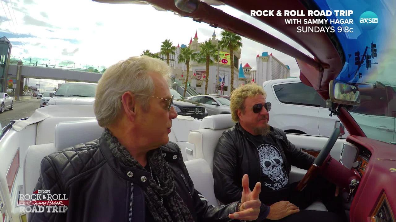 Watch deleted scenes from Sammy Hagar visit to see Styx in Sin City for 'Rock and Roll Road Trip' return July 9 on AXS TV