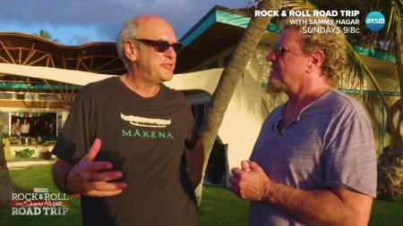Sammy Hagar catches up with 'Supermensch' Shep Gordon in Maui on 'Rock & Roll Road Trip' July 30 on AXS TV, watch de