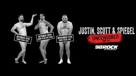 Justin, Scott and Spiegel from 98 Rock Baltimore to get 'Uncensored' this fall