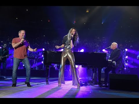 Billy Joel brings out Miley Cyrus and Paul Simon to sing 'You May Be Right' at Madison Square Garden
