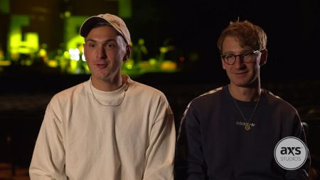 Watch Glass Animals chat on-site at the Shrine Auditorium in Los Angeles