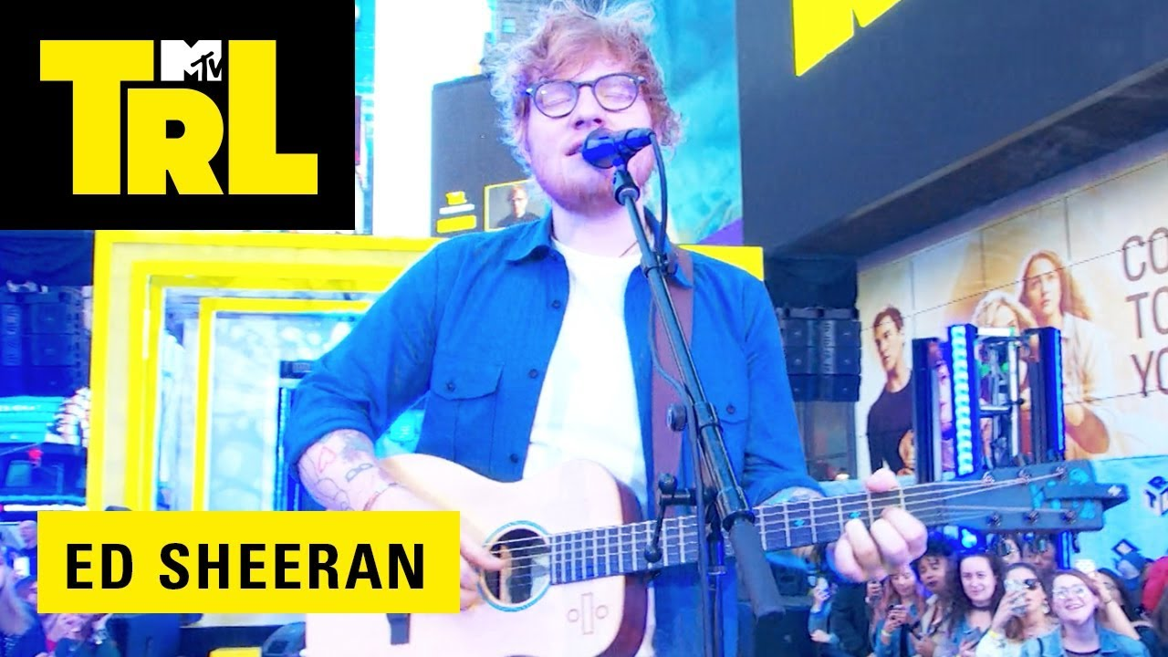Watch: Ed Sheeran makes history and performs acoustic rendition of 'Perfect' to captive TRL premiere audience