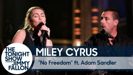 Watch: Miley Cyrus and Adam Sandler sing Dido's 'No Freedom' on 'Tonight Show'