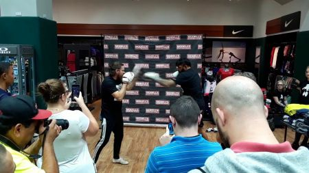 Bellator 185's Liam McGeary shows off slick striking during open workout in Times Square