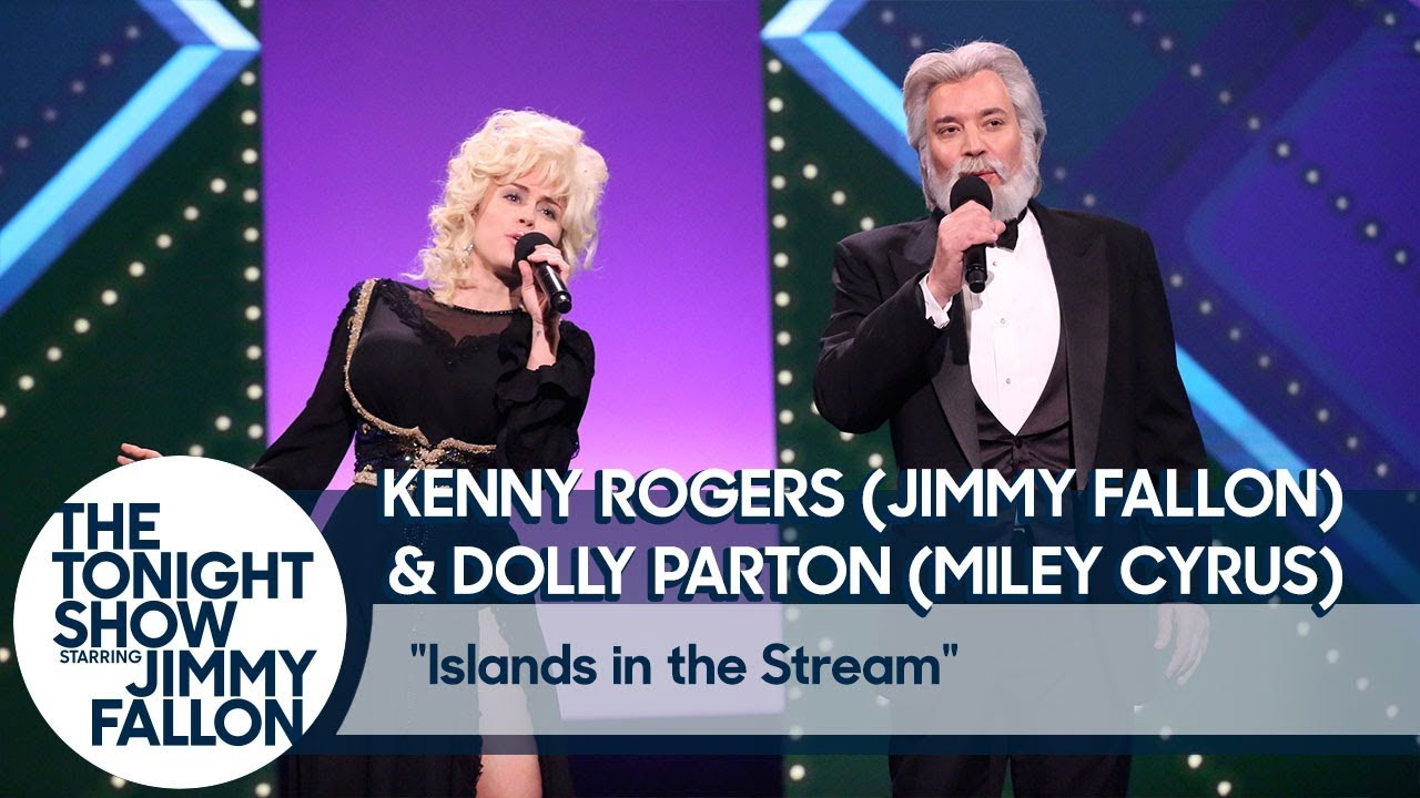 Watch: Miley Cyrus and Jimmy Fallon cover Kenny Rogers and Dolly ...