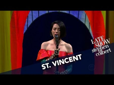St. Vincent gives a flawless performance of 'New York' on 'Late Show with Stephen Colbert'