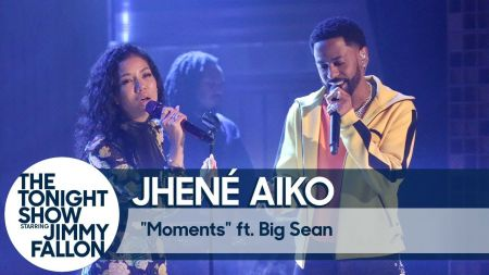 Jhene Aiko gets Big Sean tattoo, performs new song 'Moments' on 'The Tonight Show'