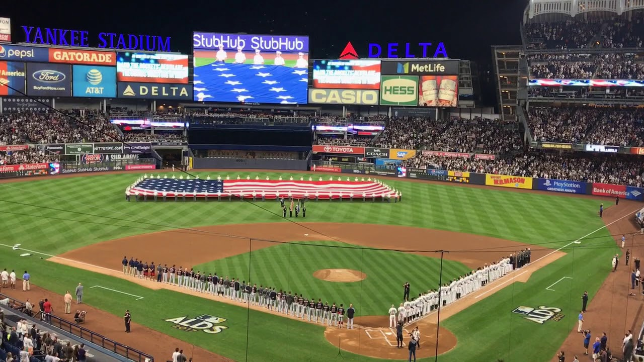 Neil Patrick Harris performs US anthem at Yankee Stadium for ALDS
