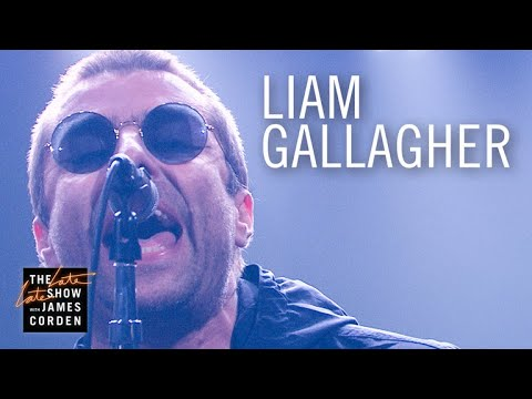 Watch: Liam Gallagher performs single 'Wall of Glass' on 'The Late Late Show'
