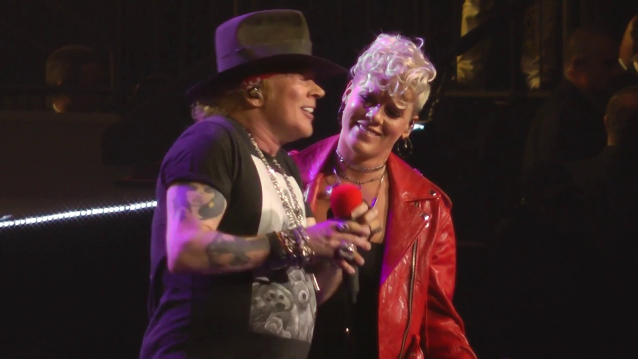 Watch: P!nk joins Guns N' Roses on stage to sing their 1989 classic 'Patience'