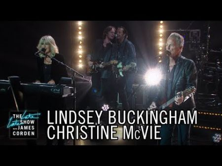 """Watch: Fleetwood Mac's Lindsey Buckingham and Christine McVie perform """"Lay Down for Free"""" on 'The Late Late Show'"""