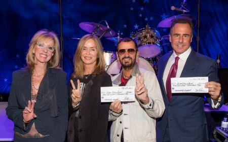 (L-R) Jan Jones Blackhurst, Chairwoman of the Nevada Resort Association, Barbara Starkey, Planet Hollywood Resort & Casino Headliner Ringo S