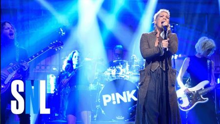 P!nk stops by 'SNL' to perform 'What About Us' and 'Beautiful Trauma'