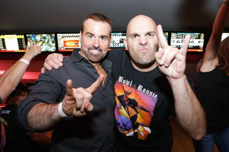 """Los Angeles, Calif. - Oct. 6: Eyellusion's Jeff Pezzuti and Ahmet Zappa, join forces in support of the Dio Cancer Fund at the 3rd Annual """""""