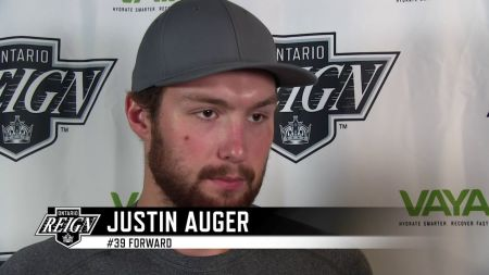 LA Kings recall Justin Auger from Ontario Reign