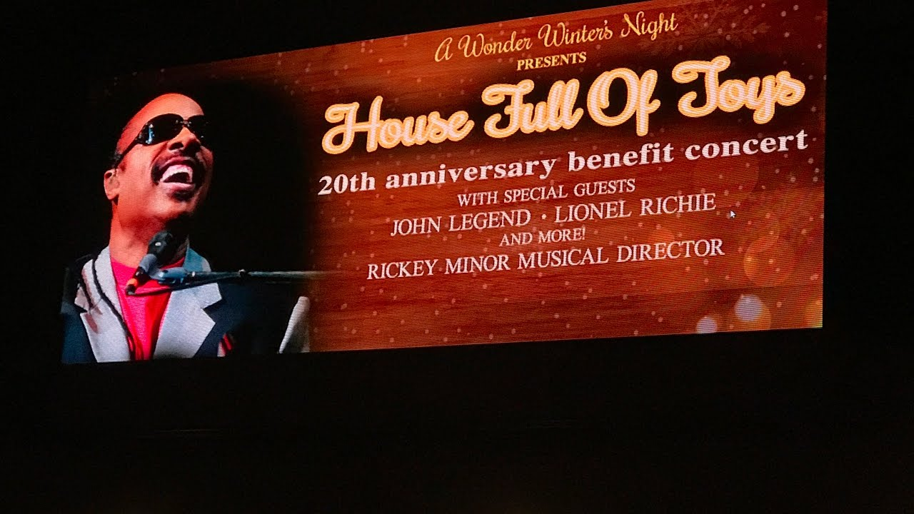 Stevie Wonder to host 21st annual 'House Full of Toys' fundraiser at Staples Center in December