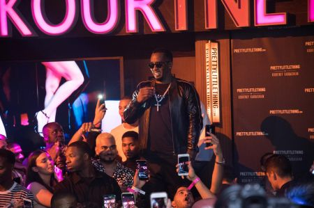 "Los Angeles, Calif. - Oct.25: Sean ""Diddy"" Combs brings some '90s nostalgia to the PLTbyKourtney launch party on Wednesday night."