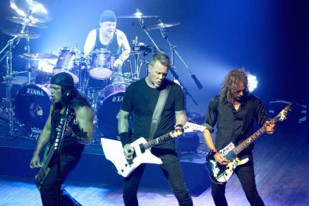 Metallica perform at New York's Webster Hall in September, 2016.