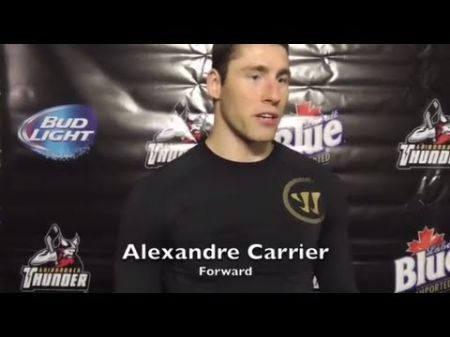 Atlanta Gladiators acquire Alexandre Carrier from the Wheeling Nailers