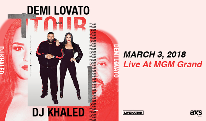 Demi Lovato & DJ Khaled tickets at MGM Grand Garden Arena in Las Vegas