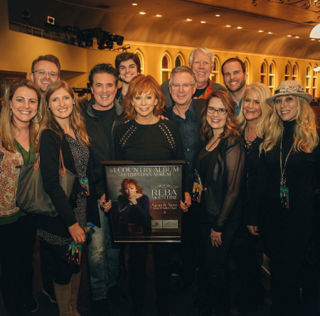 Reba and team at the Ryman