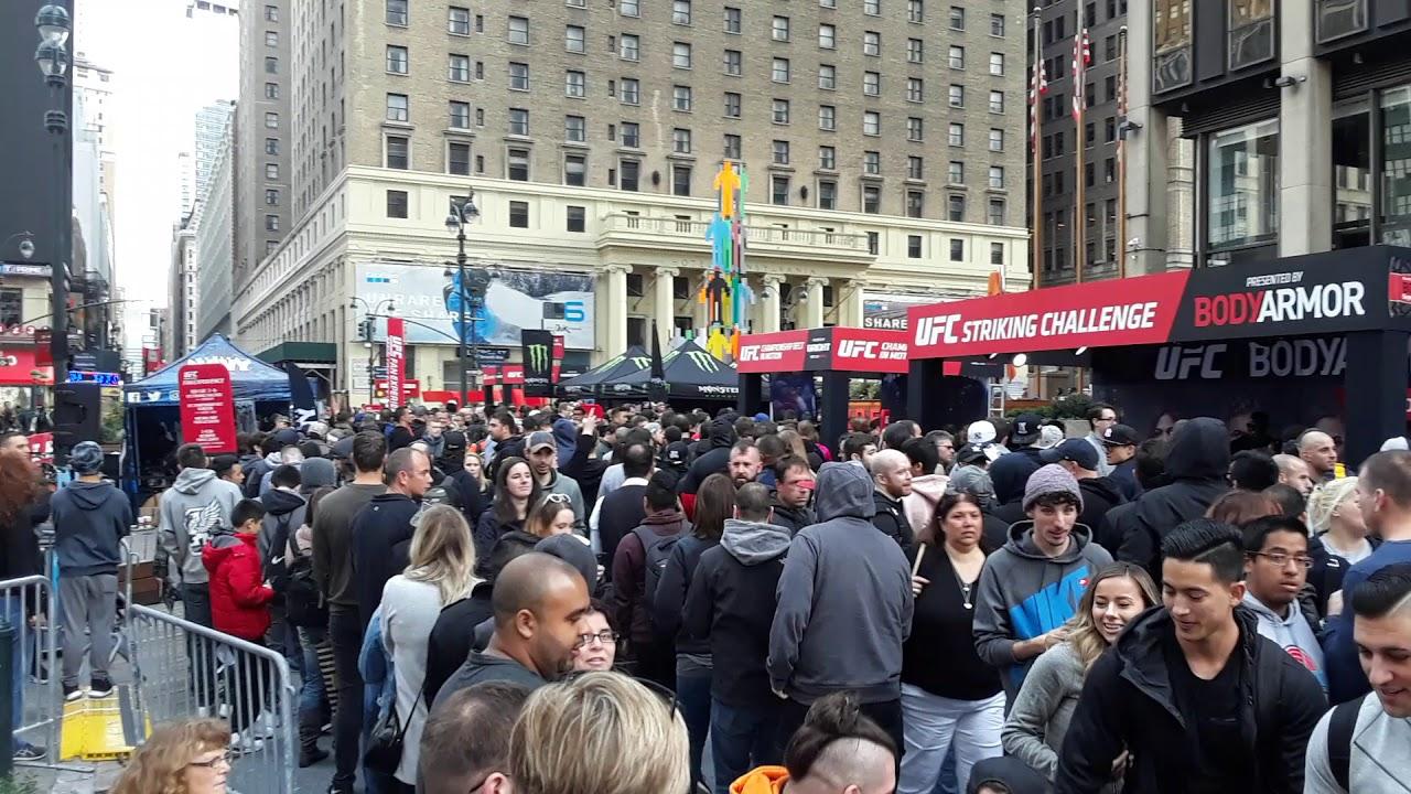 Video Ufc 217 Fan Fest Hits Madison Square Garden Axs