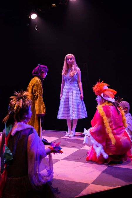 <p>Roslyn Addy (Alice) and Members of the Ensemble from Lakewood Playhouse / Lakewood Institute Theatre Spotlight Production of