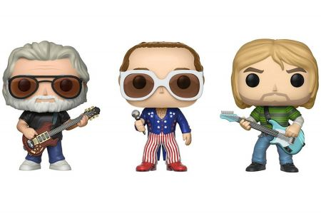 Figures of Jerry Garcia,Elton JohnandKurt Cobainwill be available for purchasein January 2018.