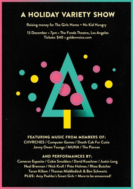 Chvrches and actor Justin Long are just a few of the featured performers for the upcoming Holiday Variety Benefit Show at the Fonda Theatre